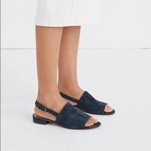 Madewell Noelle Slingback Sandal Midnight Spruce 7